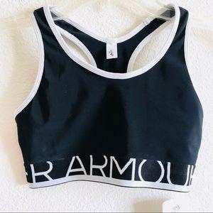 Under Armour Intimates & Sleepwear - Under Armour black & white logo workout sports bra